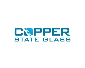 Copper state glass logo design