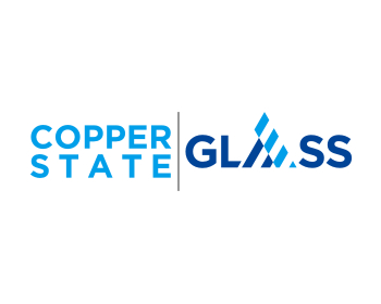 Logo design for Copper state glass