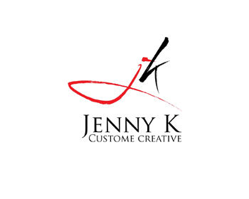 Jenny K Custom Creative logo design