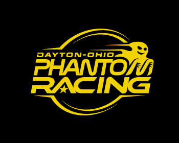 Phantom Racing logo design