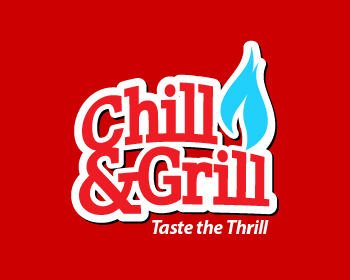 logo design entry number 178 by nigz65 chill grill or chill and grill logo contest. Black Bedroom Furniture Sets. Home Design Ideas