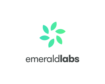 Emerald labs llc logo design