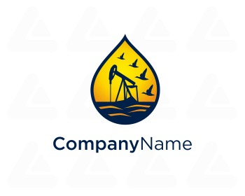Ready made logo design: mining