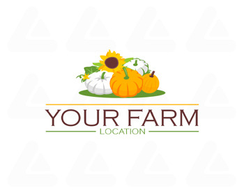 Logo pronto in vendita: Pumpkin farm