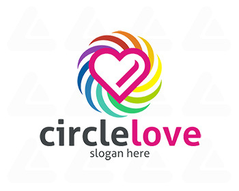 Ready made logo: Circle Love
