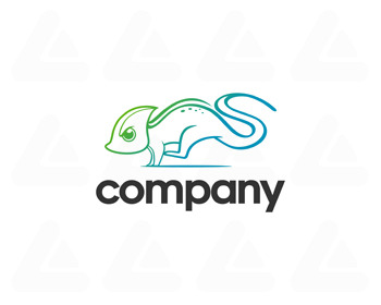Logo design: cute chameleon