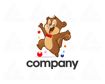 Logo design: happy squirrel
