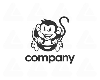 Logo design: happy monkey