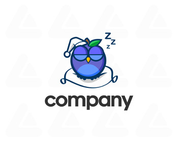 Logo pronto in vendita: sleepy owl