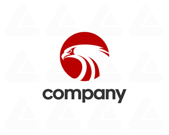 Logo design: red eagle