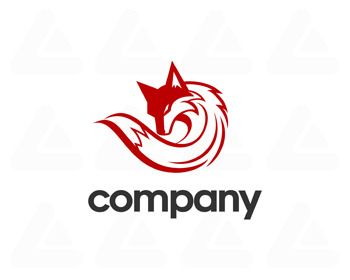 Logo: red fox