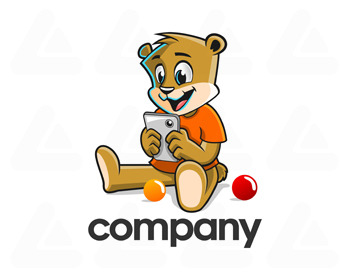 Fertige logo: bear with gadget