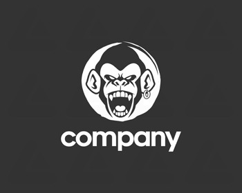 Logo design: angry monkey 2