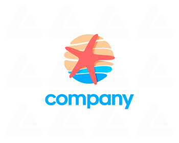 Logo design: ocean star