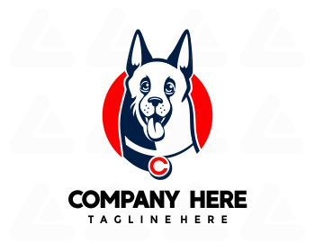 Fertige logo: german shepherd dog