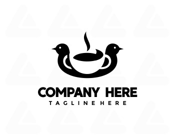 Logo design: bird coffee