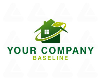 Ready made logo: green Home