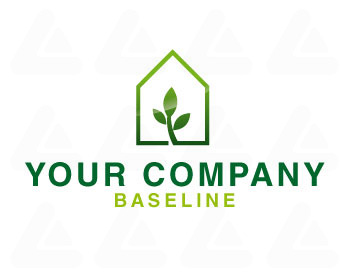 Ready made logo design: green Home