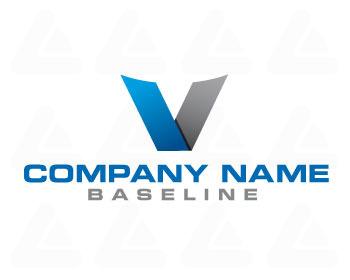 "Ready made logo design: letter ""V"""