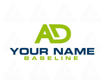 Ready made logo design: letter AD