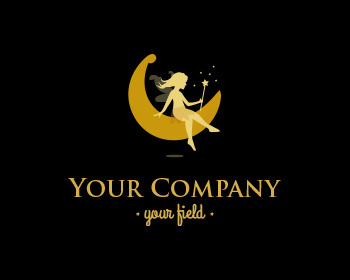 Ready made logo: Girl on the Moon