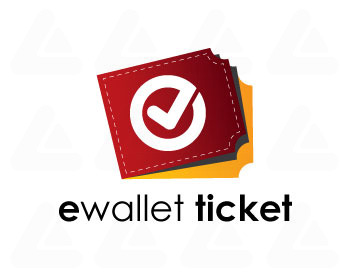 Ready made logo: e wallet ticket