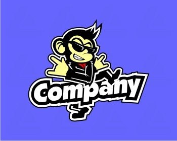 Ready made logo design: punk monkey