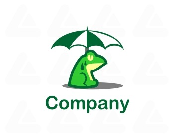 Fertige logo: umbrella frog