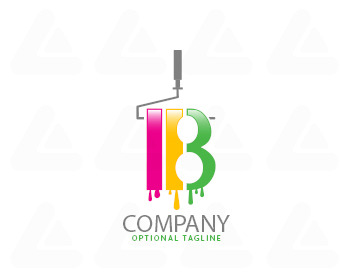 Logo pronto: B paint logo