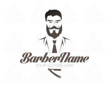 Ready made logo design: Barberlogo