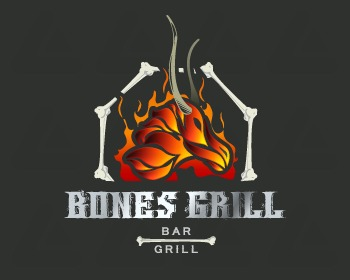 Ready made logo: BonesGrill