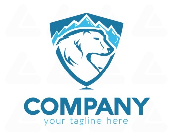 Logo design: polar bear