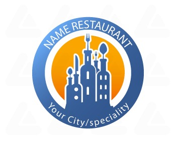Ready made logo design: food and wine city