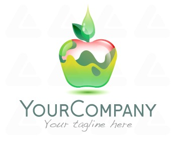 Logo design: apple health