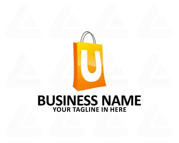 Ready made logo: u shop