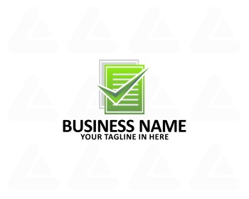 Ready made logo: note check