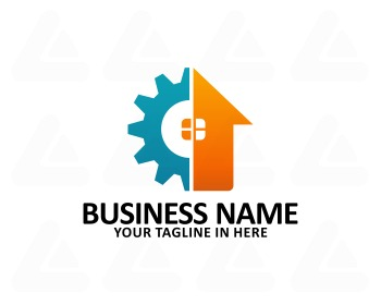 Logo design: home service
