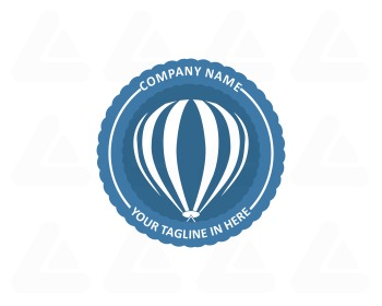 Logo design: hot air balloon