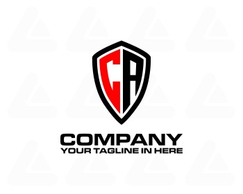 Logo design: shield C A