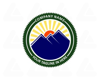 Ready made logo: blue mountain
