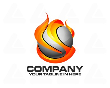 Logo design: tech tribal fire