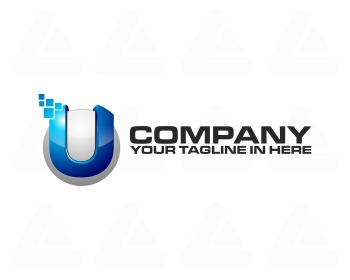 Ready made logo: Tech U pixel