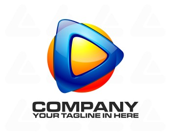 Ready made logo design: tech video