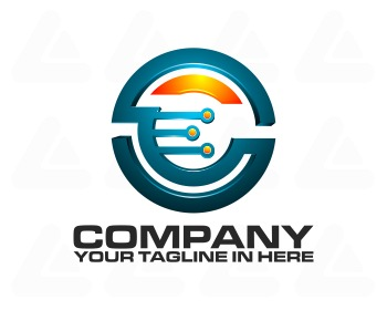 Logo design: tech e data
