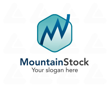 Fertige logo: Mountain Stock