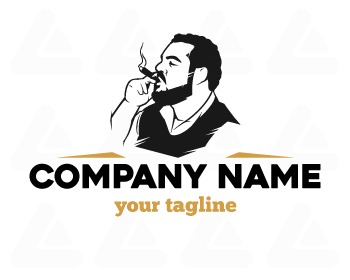 Logo design: cigar