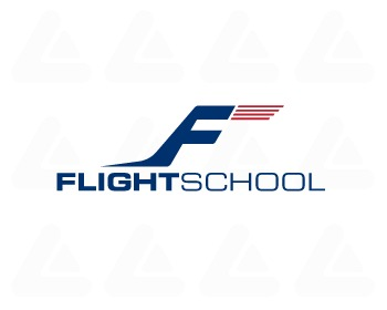 Ready made logo design: Flight School 1
