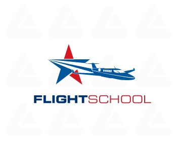 Fertige logo: Flight School 4