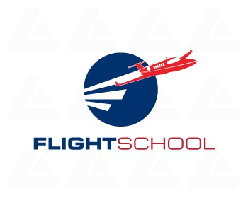 Fertige Logo: Flight School 8