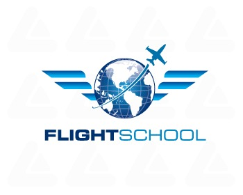 Ready made logo design: Flight School 10